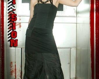 Underground 1001 night black transparent 'Emi Zion' Harem pants