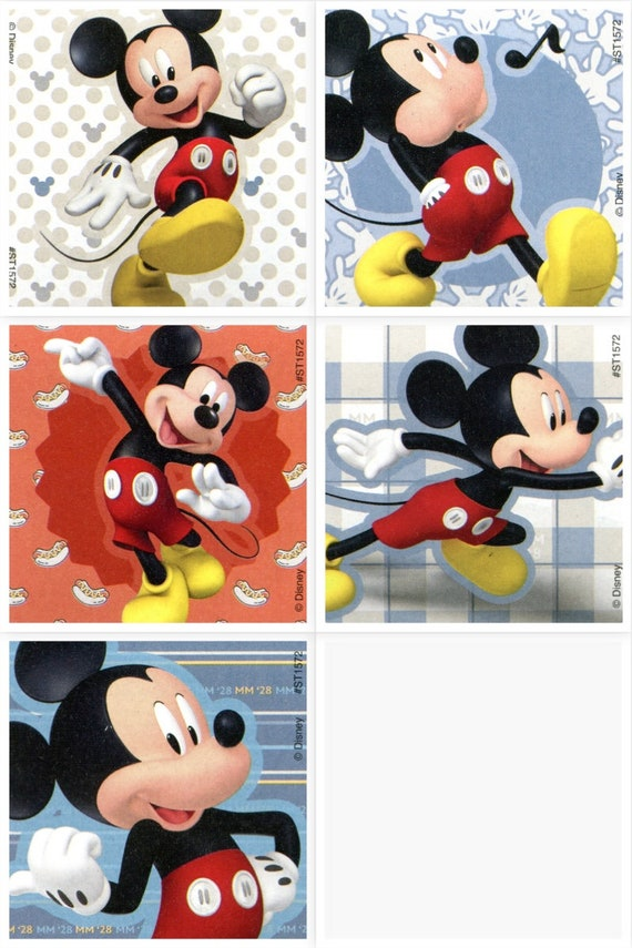 25 Disney Mickey Mouse Favorite Poses  Stickers Party Favors Teacher Supply