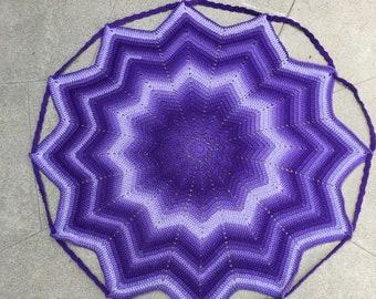 Purple baby blanket, purple toy storage, blanket and bag, purple star bag, baby toy storage, purple baby shower, baby shower gift