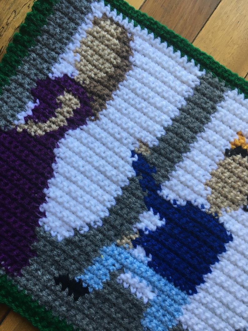 Shakespeare Crochet Crochet Pattern Edward III Pattern Shakespeare Graph Edward III C2C Graphghan 50x50 Graph Shakespearian Crochet