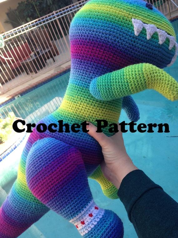 Dino Crochet Pattern Giant Dinosaur Pattern Sue The T Rex Etsy
