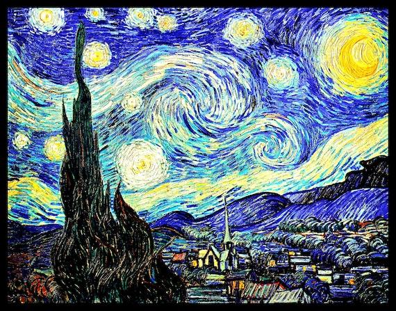 Vincent Van Gogh FRIDGE MAGNET Cafe Terrace Magnetic Poster 12x14 Print