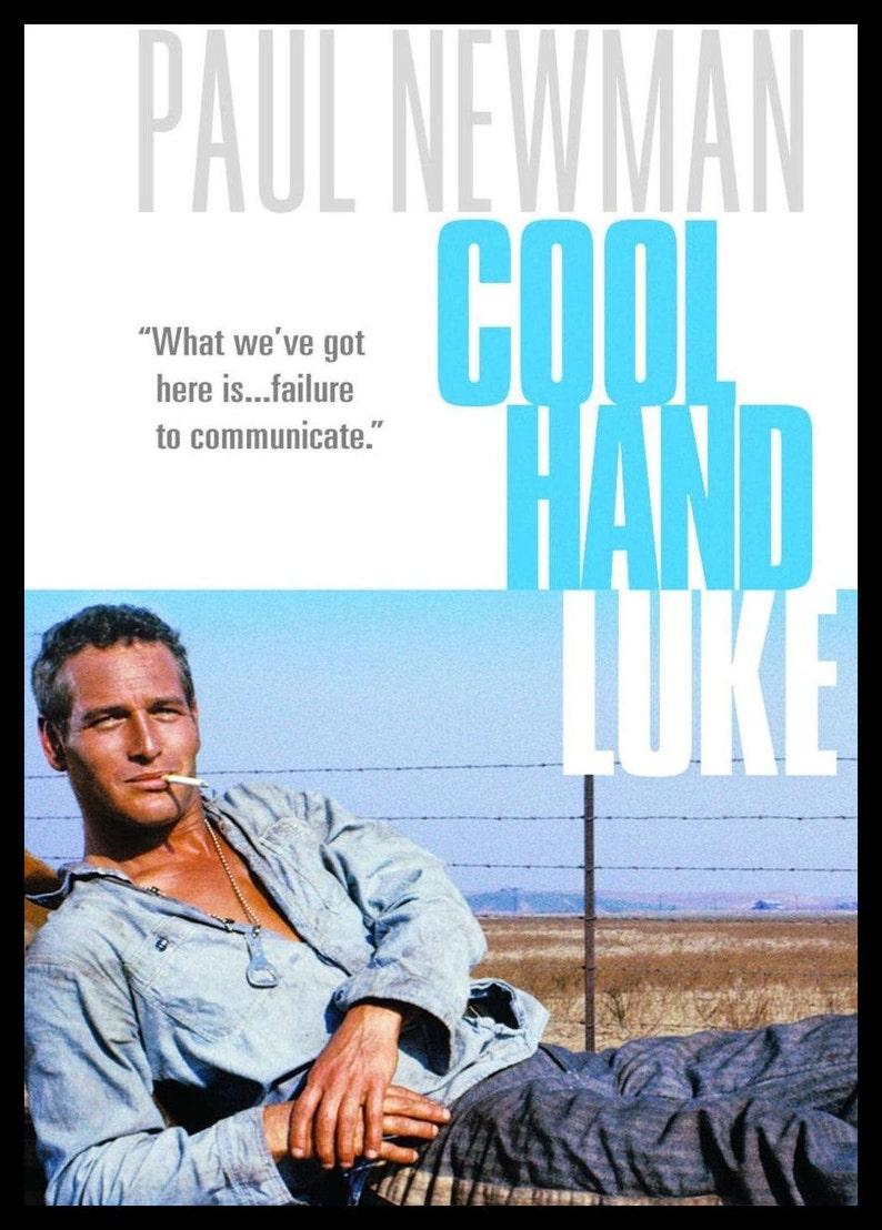 Cool Hand Luke FRIDGE MAGNET Paul Newman 6x8 Magnetic Movie Poster CANVAS  Print