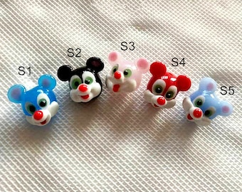 Lamp work 14mm Color Mouse Glaze Bead Vintage style bead Glass Beads Lucky Bead Design Charm DIY bracelets Bead Supply