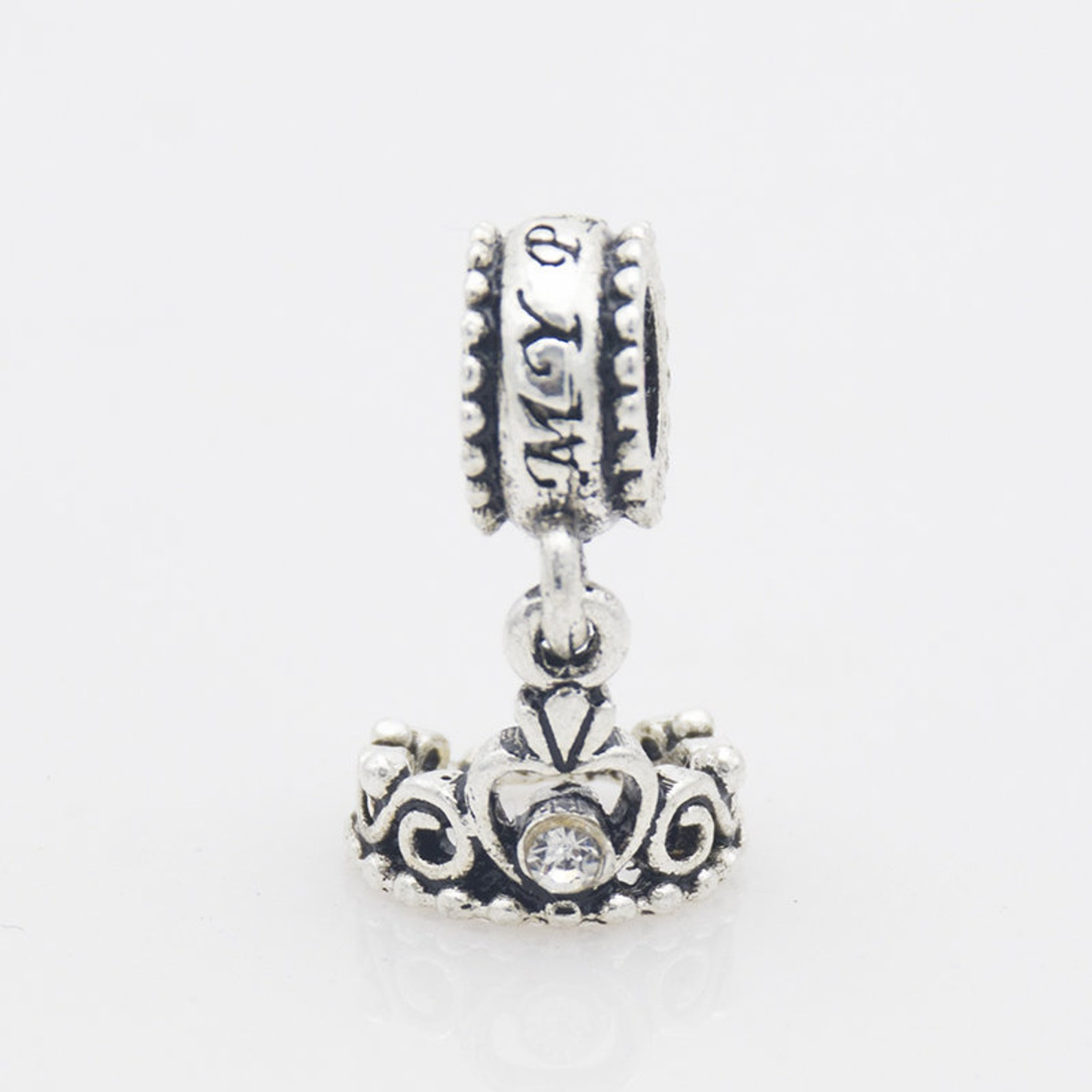 silver alloy angel wing ballet shoes bell bead pendant big hole beads loose bead fit european charm bracelets craft