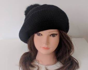Womens spring hat - Beanie - Knit hat – Hat for women - Wool/Acrylic hat – Beret hat – French beret - Beanie for women  - Slouchy beanie