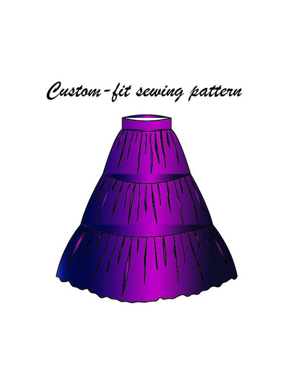 Handmade custom-fit Gypsy/Tiered skirt sewing pattern/ skirt pattern ...