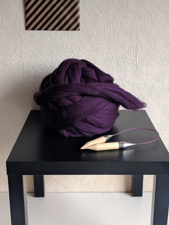 100g 100 merino wolle riesen strickgarn arm garn jumbo. Black Bedroom Furniture Sets. Home Design Ideas