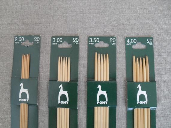 Pony Bamboo Double Pointed Needles Set 2.0mm