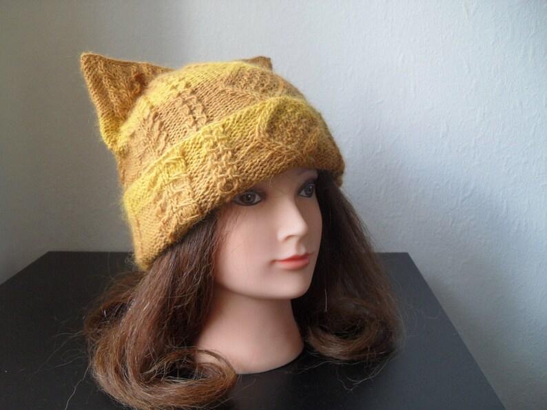 Womens winter hat \u2013 Cat ear hat \u2013 Cat beanie \u2013 Cat hat- Knit hat \u2013 ARISTOC\u2019ATS hat for women Alpaca hat Beanie for women Winter beanie
