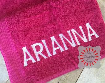 Personalized Bath Towel, Personalized Towel, Personalized Towel For Kids, Kids Towel, Girl Towel, Boy Towel, Jumbo Font, Embroidered Gift