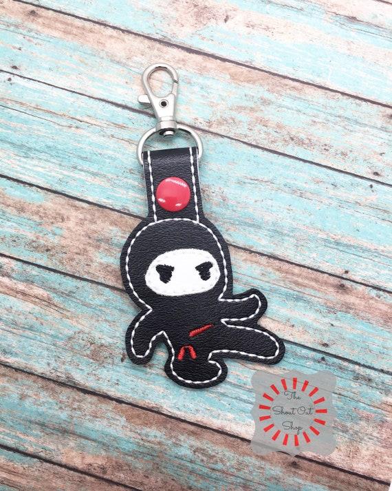 Ninja Key Chain Ninja Keychain Ninja Keyring Ninja Keyfob Etsy