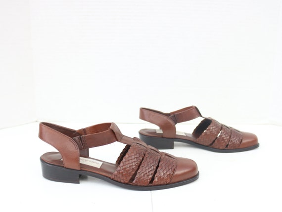 JONES NEW YORK  brown leather sandals size 7.5