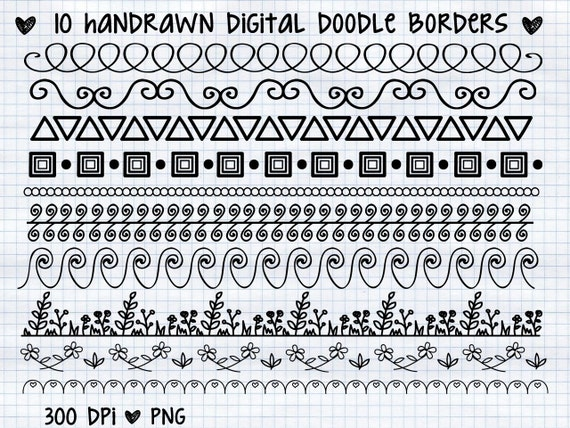 Sprzedaż 1 Dolar Ofertę Ręcznie Rysowane Cyfrowy Doodle Etsy