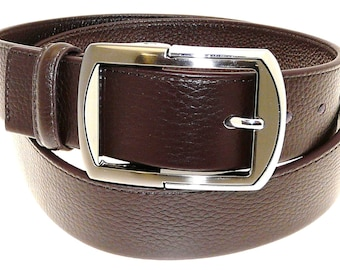 Men's Quality Brown Leather Belt In Gift Box (Style No.25).