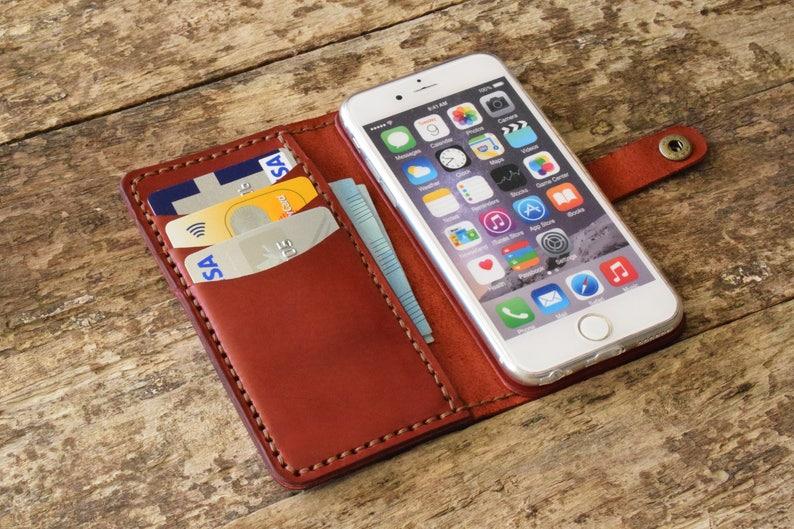 new styles 03bfa eebf1 iphone X wallet case, leather iphone X leather case, iphone X monogram  case, iphone X phone case, iphone X personalized, initial red