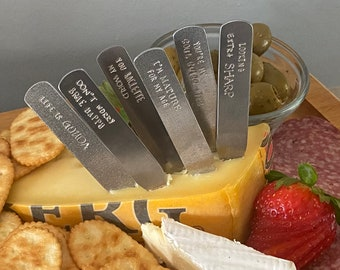 Charcuterie accessories cheese picks cheese labels cheese markers housewarming gift hostess gifts under 20 cheese board labels cheese tags