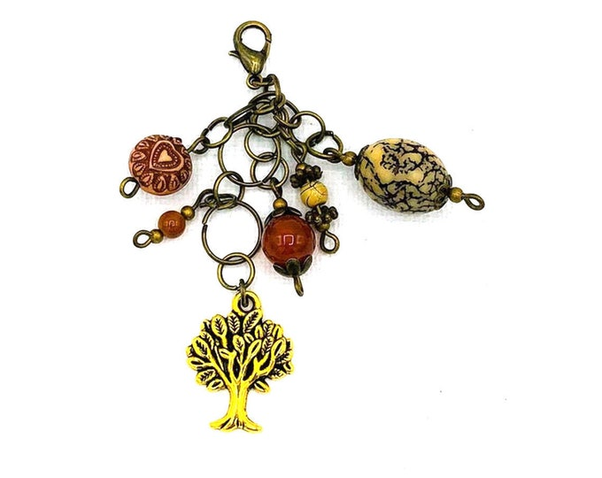Handmade Beaded Tree of Life Charm