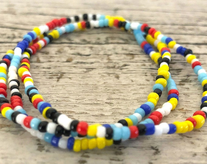 Handmade Beaded Multi Color Bracelet Set