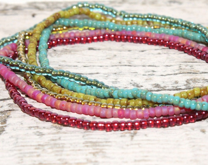 Handmade Beaded Picasso Single Dainty Bracelets