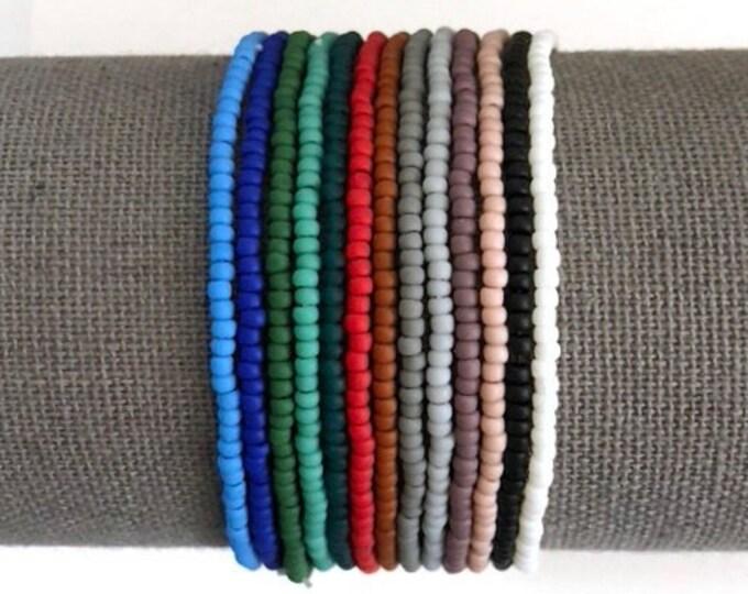 Handmade Beaded Matte Single Dainty Bracelets