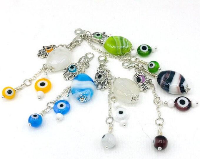 Handmade Beaded Evil Eye Charm