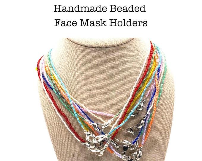 Handmade Beaded Face Mask Holder