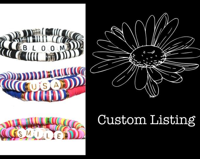 Custom Name Color Style Heishi Bracelet