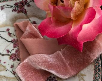 CANDY hand dyed silk velvet ribbon//plant dyed//eco dyed//wedding ribbon//bouquet ribbon//styling ribbon//photo prop//pink ribbon