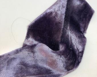 FRENCH NAVY hand dyed silk velvet ribbon//plant dyed//wedding ribbon//bouquet ribbon//styling ribbon//gift ribbon//blue ribbon