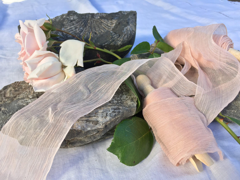 Ruban de soie habotai, ROSE BLUSH teint / décos / / décos eco teint mariage ruban style ruban / / photo prop / ruban de soie pure aa3229