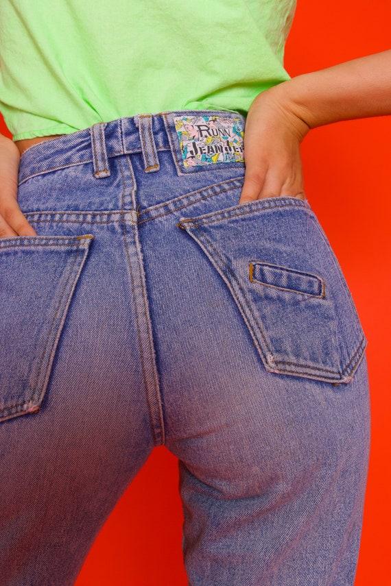Vintage 'Runn Jean Jer' High Waisted Skinny Zipper Jeans