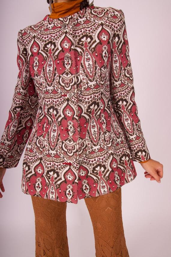 Vintage 1970's 'Lillie Rubin' Boho Chic Tapestry Coat