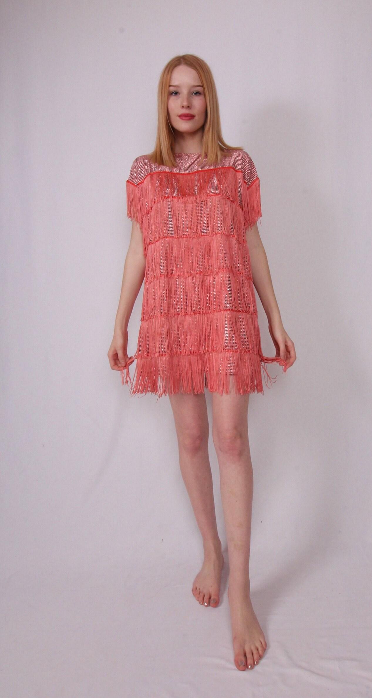 bf77cb55ac Vintage 1960's Fun Fringe Dress Shirt | Red and Silver Metallic ...