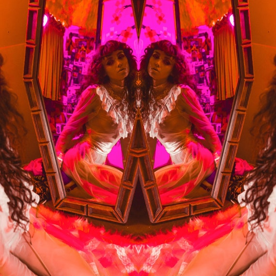 Vintage Inspired Original Artwork Colorful + Psychedelic Mirrored Fairy Tale Photography Print