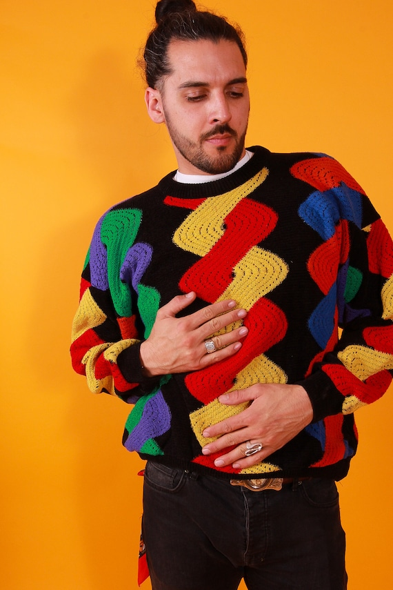 Vintage 90's Authentic 'COOGI' Knit Sweater | Colorful | Fun and Funky Pattern