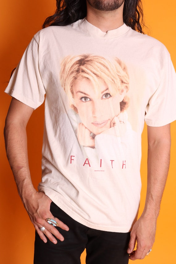 Vintage 1998 Unisex 90's Faith Hill Tour T Shirt | Long White Shirt | Country Music | Graphic T
