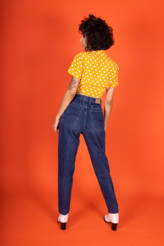 Vintage 90's 'Lee' High Waisted Dark Denim Jeans