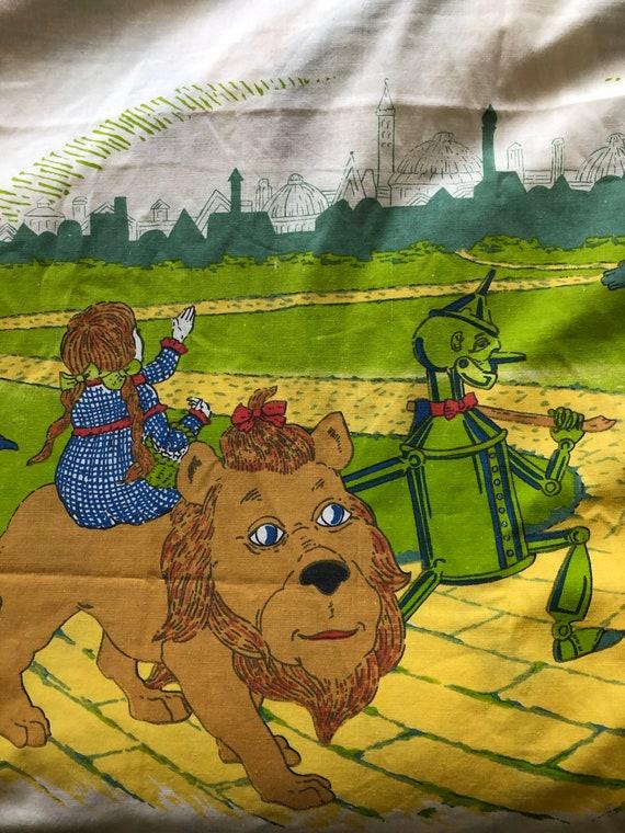 1970 Wizard Of Oz Kids Flat Bed Sheet