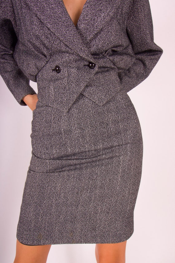 Vintage 90's 'CONTEMPO' Two Piece Black and White