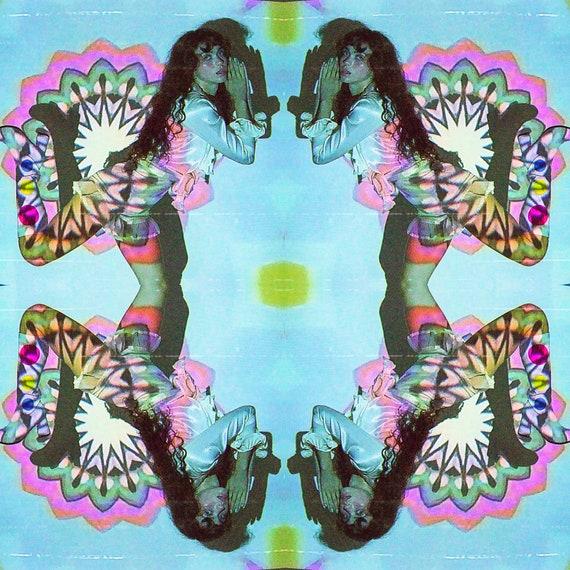 Original Art Vintage Psychedelic Kaleidoscope Album Photography Print