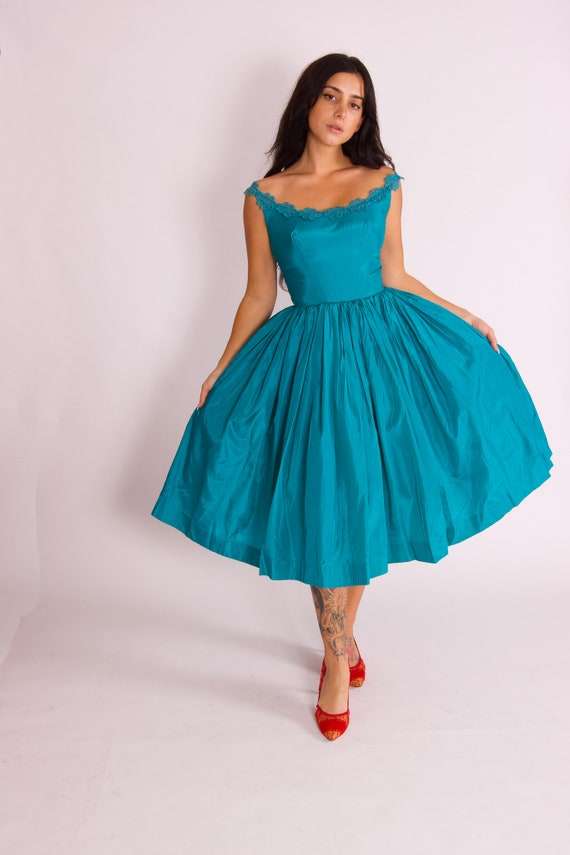 Vintage Timeless 1950 - 60's Blue Tulle Party Party Dress