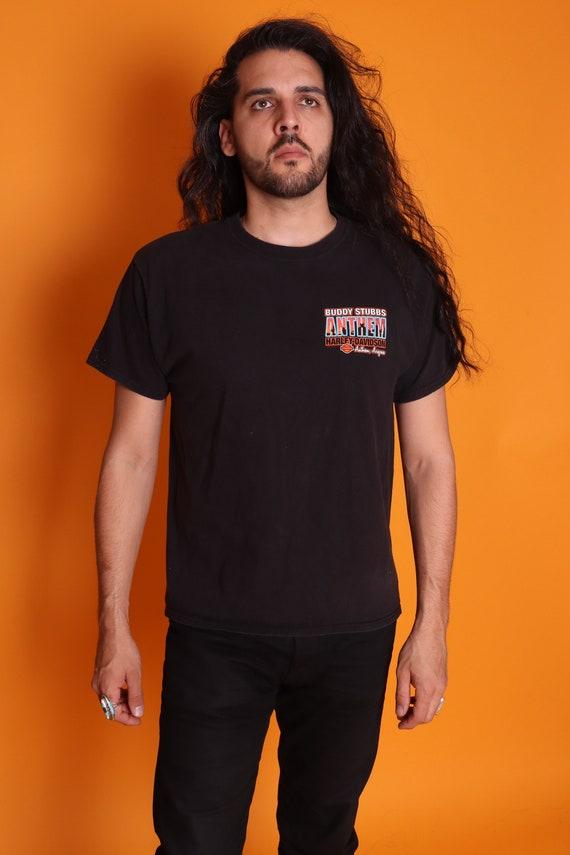 Vintage 'Anthem Harley Davidson' It's A Dry Heat Arizona Biker Black T-Shirt | Skeleton