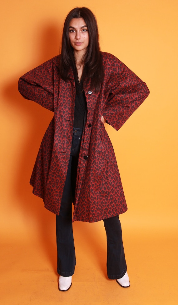 Vintage 1960's 'Jaeger' Oversized Cape Dark Leopard Coat | Cheetah | Animal Print | Retro Chic