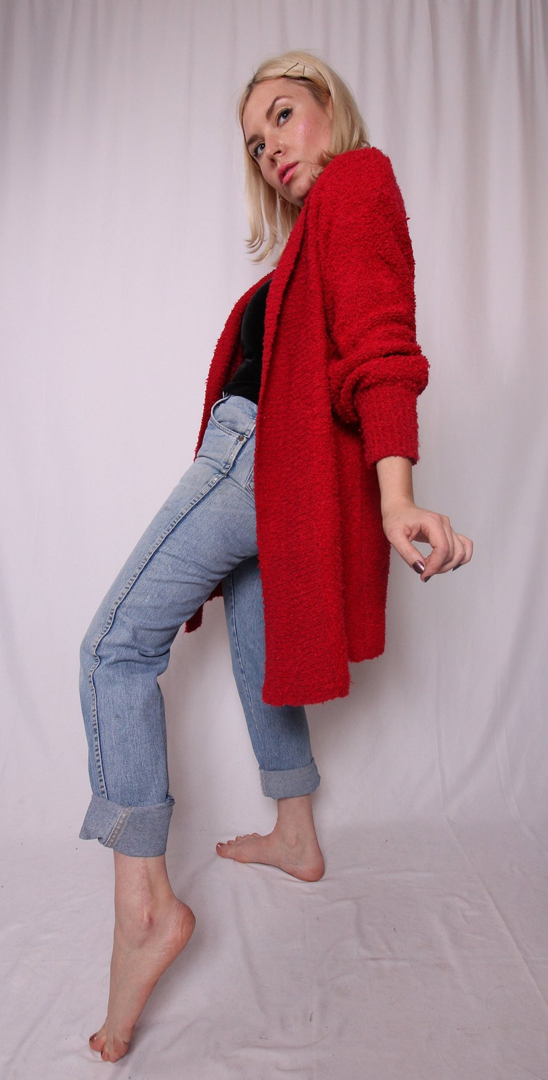 4b4523f41f11fe Vintage  Monto Pan Le Chois  Oversized Red Knit