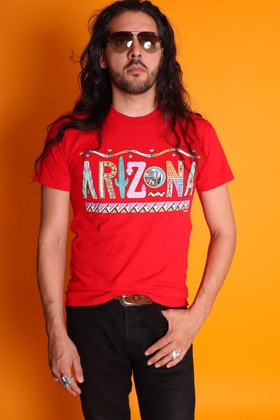 Vintage Unisex 1990's ARIZONA Southwestern Graphic T-Shirt | Saguaro Cactus | Rattle Snake | Desert