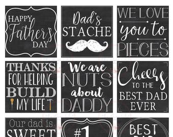 Father's Day Tags - Instant Download
