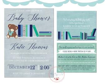 Book Theme - Baby Shower Invite Set