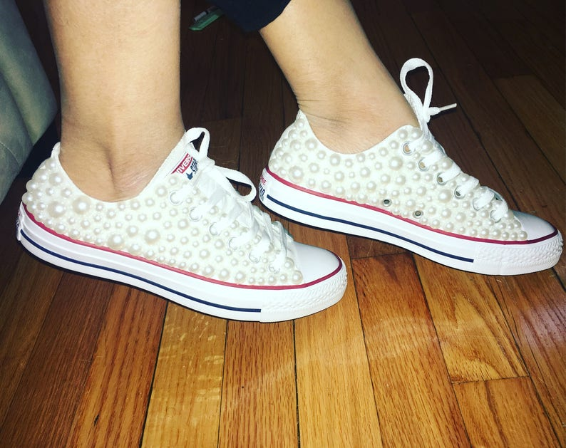 Women s White Custom Converse All Star Chuck Taylor in  59d31aedf219e