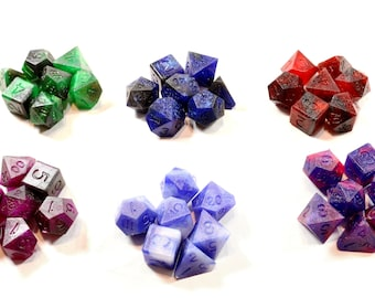 Perfect Plastic™ Celestial Polyhedral Dice Sets (Prototype) (Raw)